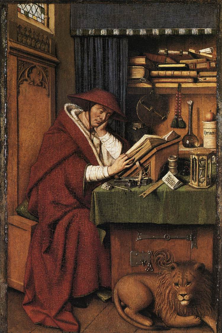 workshop of jan van eyck st jerome in his study 1442Picture Of Jan Van Eyck